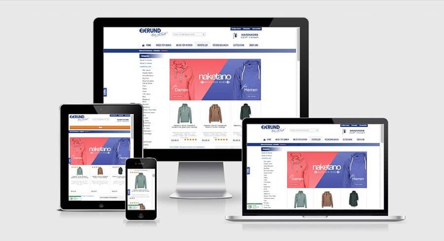 Shop Relaunch optimierte Darstellung