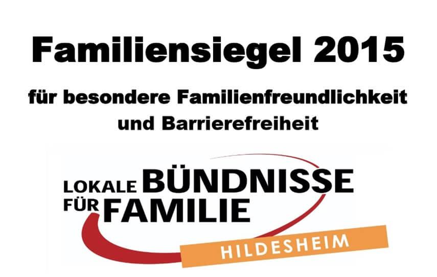 Familiensiegel 2015 in Hildesheim