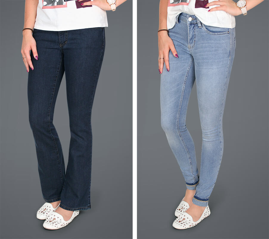 Vergleich Bootcut Jeans oder Skinny Jeans