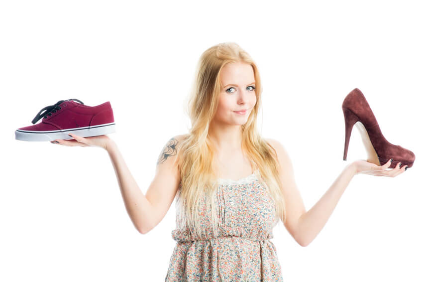 Sneakers oder Highheels