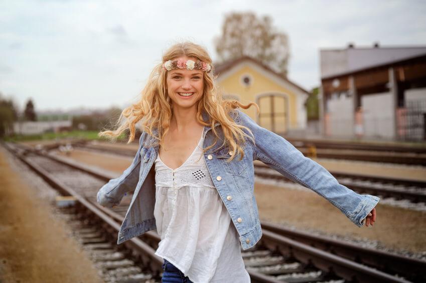 Damen Jeansjacke Hippie