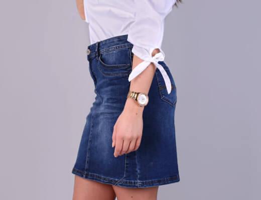Jeansröcke liegen wieder voll im Trend