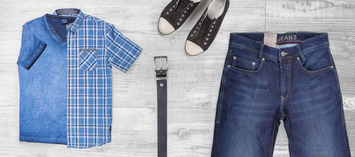 Beispiellook: Angesagte Mode für mollige Herren