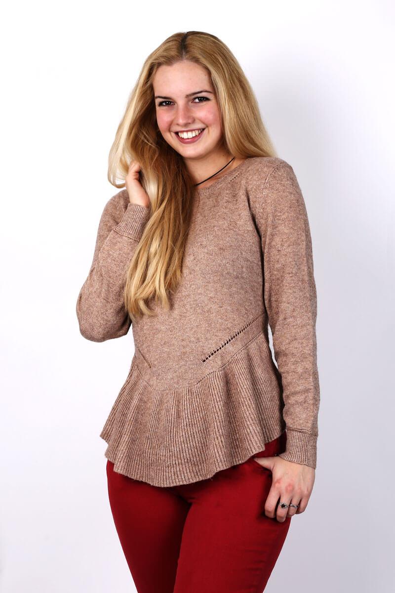 Camel Pullover Damen