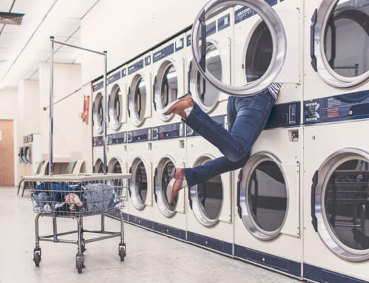 Lasst euch von eurer Wäsche nicht unterkriegen!