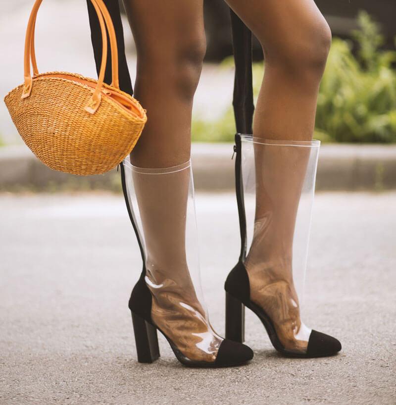 Transparente Schuhe für Damen