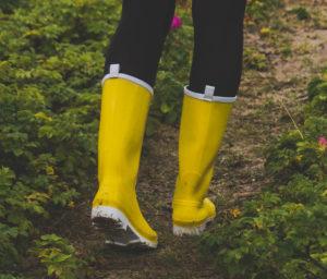 Herbstmode Regenwetter