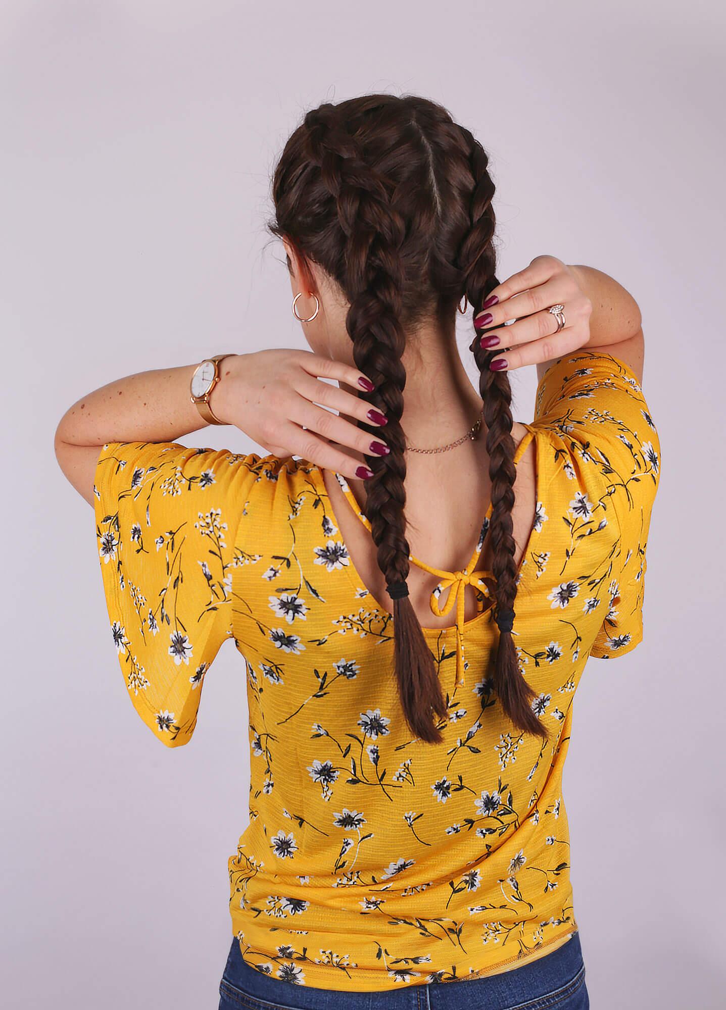 Lange Haare Trendfrisur