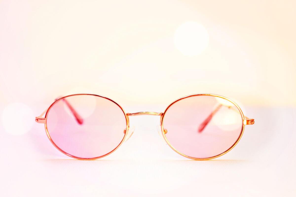 Sonnenbrille mit Candy-Gläsern Trend Accessoire
