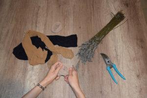 Kaputte Strumpfhosen verwerten