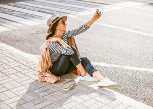 Selfie im Tageslicht