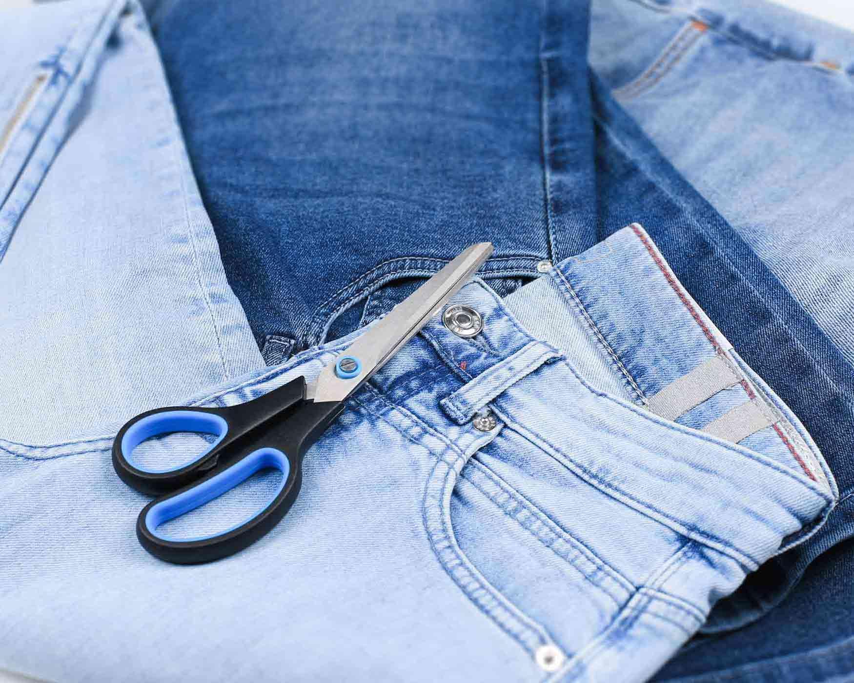 Jeans als Deko