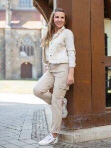 Jeansjacke tragen Lagenlook