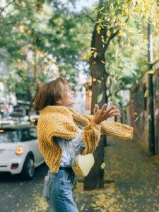 Herbstmode Strickpullover