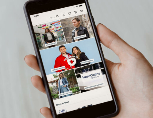 Smartphone zeigt HoseOnline App